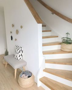 Stairs u. covering stairs- Treppe u. Treppenverkleidung Stairs u. covering stai Stairs u. covering stairs- Treppe u. Treppenverkleidung Stairs u. Stairs Covering, Best Flooring For Basement, Foyer Flooring, Basement Stairs, Escalier Design, Interior Stairs, House Stairs, Foyer Design, Hallway Decorating