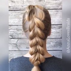 Hairvideo hairtutorial hairvids braidinspo the best hair braid styles Easy Hairstyles For Long Hair, Braids For Long Hair, Ponytail Hairstyles, Hairstyles Videos, Hairstyle Short, School Hairstyles, Beautiful Hairstyles, Party Hairstyles, Natural Hairstyles
