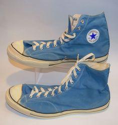 e262f412e0d357 Converse All Star Chuck Taylor Vtg 1960s Blue High Top Black Blue Label Sz  16  ChuckTaylor  Athletic