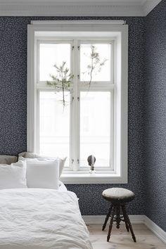 Blue Grey Wallpaper, Blue Wallpapers, Kitchen Wallpaper, Wall Wallpaper, Beddinge, Bungalow Bedroom, Home Interior, Interior Design, Inspirational Wallpapers