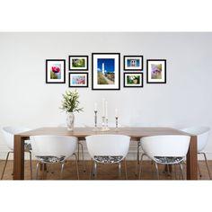 Fotolijsten muur bestaande uit 7 fotolijsten. Compleet met ophangtemplate voor een strak resultaat. Kleur: Zwart