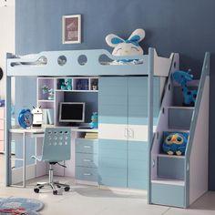 Room Design Bedroom, Teen Bedroom Designs, Cute Bedroom Ideas, Home Room Design, Small Room Bedroom, Bedroom Decor, Cool Loft Beds, Loft Bunk Beds, Creative Kids Rooms