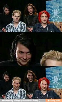 My Chemical Romance ~ Franks Face XD i think I just died. Emo Band Memes, Mcr Memes, Emo Bands, Music Bands, Asking Alexandria, Twenty One Pilots, My Chemical Romance Memes, All Meme, Frank Iero