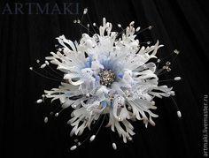 Фантазийный цветок «Из мира снежинок» - Ярмарка Мастеров - ручная работа, handmade