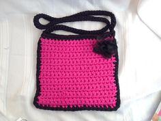 Handbag Crochet tshirt yarn trapillo zpagetthi made in cape town Rangan Originals handcrafted