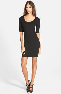 Free shipping and returns on Topshop Scoop Neck Body-Con Minidress at Nordstrom.com. Elbow sleeves and a darling scooped neckline frame a body-con minidress made from a stretchy ponte jersey-knit.