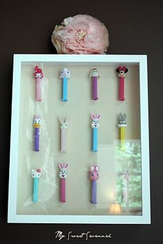 My Sweet Savannah: ~reveal day~ What a creative way to display Pez dispensers!