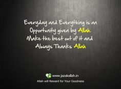 about Allah quote nice for a words
