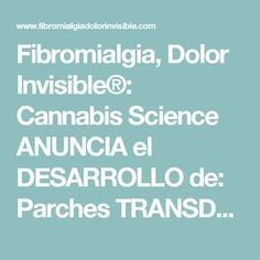 Fibromialgia, Dolor Invisible®: Cannabis Science ANUNCIA el DESARROLLO de: Parches TRANSDÉRMICOS de CANNABIS. ¡Por Favor, Lee el Post!