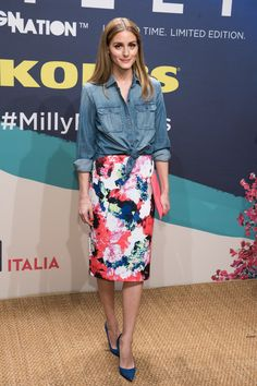Olivia Palermo attends the Milly For DesigNation collection launch on April 22, 2015 in New York City.