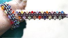 Beading4perfectionists : 6mm and 4mm Swarovski + seedbeads bracelet Bead...