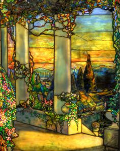Tiffany Window Detail (Howell Hinds House) HDR | Flickr: Intercambio de fotos
