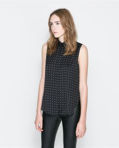 ZARA - WOMAN - BLOUSE WITH BOX PLEATS AT THE BACK