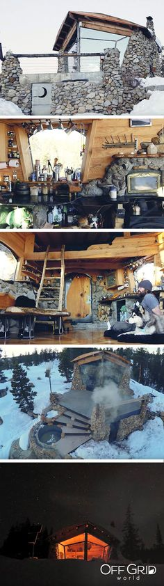 Amazing off the grid tiny house built by a professional snowboarder