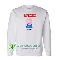 b9eda4fb Supreme Box Blue Peppa Pig Sweatshirt Maker Cheap