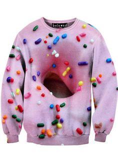 Pink Donut Crewneck Sweatshirt – From Phoenix With Love