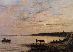 """""""Roadstead of Brest"""",  by Eugene-Louis Boudin Portland Art Museum"""