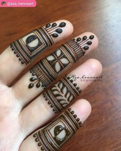 Yay or Nay? Henna on fingers 😍by Latest Finger Mehndi Designs, Basic Mehndi Designs, Mehndi Designs For Beginners, Mehndi Designs For Girls, Wedding Mehndi Designs, Mehndi Design Images, Mehndi Designs For Fingers, Latest Mehndi Designs, Mehndi Designs For Hands