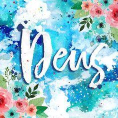 COLEÇÃO | COISAS BOAS - Larissa Grace - Lettering aquarelado DEUS (God)