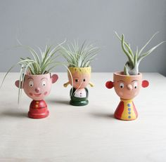 vintage egg cup trio by ohalbatross on Etsy, $46.00