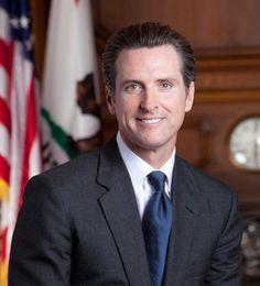 California Lieutenant Governor Gavin Newsom