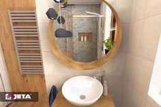 nowoczesna wersja stylu rustykalnego z markami Aparici kolekcja Carpet oraz Tubądzin i Opoczno. Porjekt powstał w salonie w Komornikach (Galeria Top Meble)