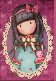 ‿✿..GORJUSS..✿‿ Holly Hobbie, Cute Images, Cute Pictures, Decoupage, Santoro London, Kawaii, Stencil Painting, Copics, Cute Dolls