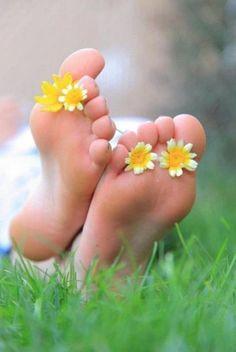 Feet - Daisy - Relax - NLP - Kinesthetic Piedi - Margherite - Relax - PNL - Cenestesi