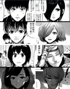 #Tokyo ghoul vs Tokyo ghoul :re Kaneki/Sasaki, Touka, Hinami & Tsukiyama