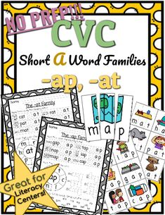 CVC *No Prep* - Short A Families -ab, -ad This set includes CVC puzzles that your students can cut out and match to help them build understanding of initial, medial, and final sounds. Phonics Lessons, Family Set, Cvc Words, Kindergarten Teachers, Word Families, Word Work, Literacy Centers, Curriculum, Prepping