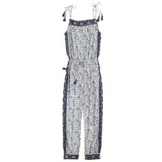 Enjoy an additional 25% off newly added sale styles! Afton Printed Silk Jumpsuit | Calypso St. Barth