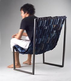 jeans chair