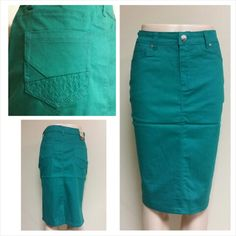 Apple Green Colored Denim Skirt | $22.00 | Order at www.jupeinc ...