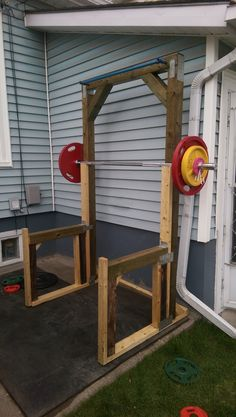 DIY Squat rack and bench press - Imgur | wood work ...