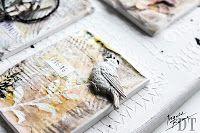 Scrapmanufaktur: decorative plaster tablet made for the Ingvild Bolme DT