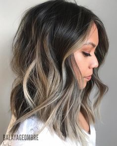 """7,033 Likes, 58 Comments - Balayageombre® (@balayageombre) on Instagram: """"You can keep your base still have amazing color and tone one ☝️ more thing  is important a hair…"""" Dark Brown Hair With Blonde Highlights, Balayage Long Bob, Long Bob Brunette, Dark Roots Blonde Hair Balayage, Balayage Asian Hair, Black Hair With Blonde Highlights, Dark Ombre Hair, Brown Balayage, Brunette Color"""