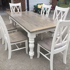 25 Awesome Farmhouse Dining Room Table Ideas Decor And Makeover. If you are looking for Farmhouse Dining Room Table Ideas Decor And Makeover, You come to the right place. Below are the Farmhouse Dini. Dining Table Makeover, Home, Diy Dining, Dining Table Legs, Farmhouse Dining Room Table, Painted Kitchen Tables, Table Makeover, Dining Room Table, Farmhouse Table