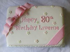 anniversary sheet cakes | Pink & Green Sheet Cakes for 1st and 80th Birthdays