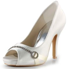 54.99$  Buy here - http://aliw0u.shopchina.info/go.php?t=32807774458 - Shoes Woman EP2041-IP White Ivory Bridal Evening Party Pumps Platforms High Heel Rhinestones Bride Wedding Shoes 54.99$ #magazineonlinebeautiful