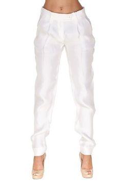 Emporio Armani WHITE Rayon Pants Trousers, 40, White Emporio Armani. $88.50