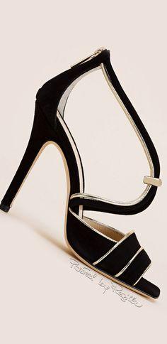 Elisabetta Franchi ~ Spring Sandal Heels, Black 2015