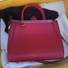 """FENDI 3Jours magenta shopper!!!! Includes dust bag and authenticity card. 12.25"""" W X 8.5"""" H X 4.75"""" D. Calf and lamb leather. Color: magenta FENDI Bags"""