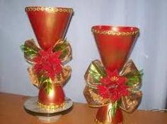 Resultado de imagen para como decorar facil una guirnalda navideña con material de provecho