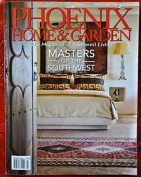 Phoenix Home and Garden Magazine Cover- We were featured as one of the Masters of the Southwest this year! Phoenix Homes, Ranch Style, Rustic Interiors, Rustic Style, Lodges, Bed Pillows, Arizona, Home And Garden, March 2014