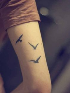 Two kissing symmetrical love bird tattoo - Tattooimages.biz