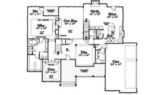 Traditional House Plan First Floor - 026D-0898 | House Plans and More