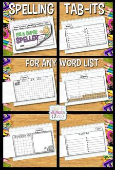 On Monday mornings, my students copy down their new spelling words for the week, they will copy them down on the first page of the Tab-Its booklet which will be sent home for homework. #guidedreading #smallgroups #tabits #spelling