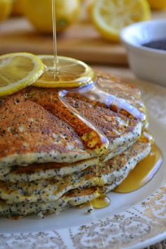 The view from Great Island: Day #7 of All Citrus Week: Lemon Poppy Seed Pancakes
