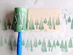 Make your own printed designs for holiday and beyond with this #diy roller stamp…