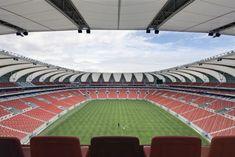 Nelson Mandela Bay Stadium by GMP Architekten - Port Elizabeth. Primates, South Africa Holidays, Cape Colony, Football Stadiums, Soccer Stadium, Port Elizabeth, Nelson Mandela, Rest Of The World, Fifa World Cup